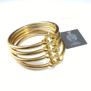 Vince Camuto Gold Tone Four Bangle Bracelet NWT
